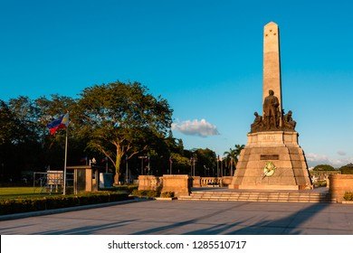 Monument in memory of Jose Rizal (National hero) at Rizal park in Manila, Philippines