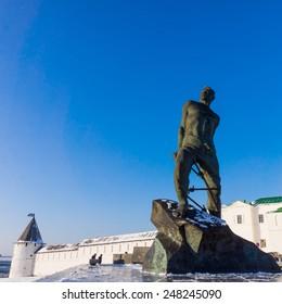 The monument to Musa Dzhalil, poet, hero of the Soviet Union. Kazan, Russia