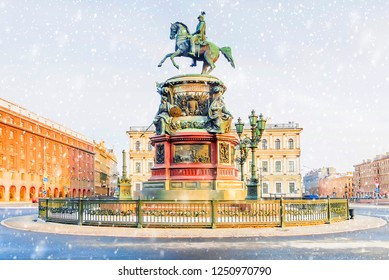 Monument to Nicholas I in St. Petersburg
