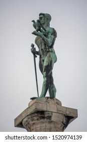 "Monument ""Pobednik"" in Belgrade closeup"