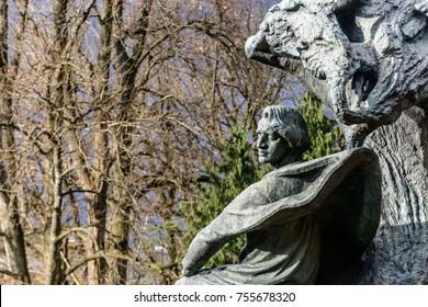 The monument to Polish composer Fryderyk Chopin (1810–49) designed by Waclaw Szymanowski in 1908 in Warsaw, Poland.