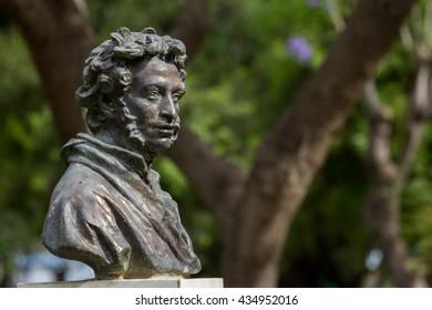 monument to Pushkin - russian poet, Cyprus