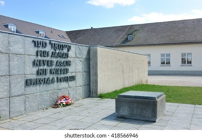 monument to remember the tragedy that it will never happen again at dachau near Munich, germany