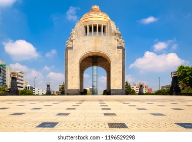 The Monument to the Revolution in Mexico City on a sunny summer day