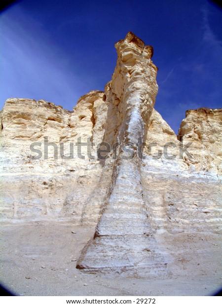 Monument rocks, Kansas, limestone formation.
