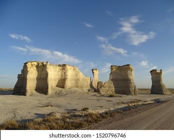 Monument Rocks in Oakley Kansas