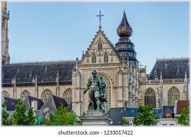 The monument to Rubens in Antwerp, Belgium