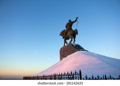 Monument of Salawat Yulaev in Ufa, Russia