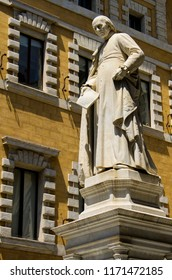 Monument of Salustio Bandini famous financial expert from Siena, Toscana, Italy
