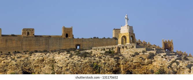 It is a monument to San Cristobal located alongside the walls of the Alcazaba in Almeria, Spain