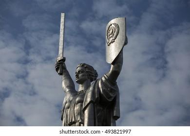 monument sculpture motherland, Kiev, Ukraine
