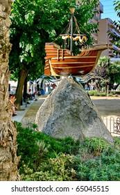 "The monument - the ship  of Christopher Columbus ""Santa Maria"""