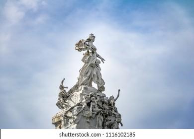Monument to the Spaniards (Monumento de los Espanoles) in Palermo - Buenos Aires, Argentina