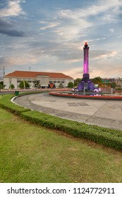 The Monument of Struggle Tugu Muda in the Time of Sunset