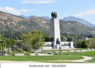 Monument at This Is The Place Heritage Park in Salt Lake City, Utah