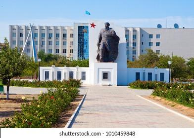Monument Tobaniyazu Alniyazuly in Aktau. 10.07.2012. Aktau. Kazakhstan.