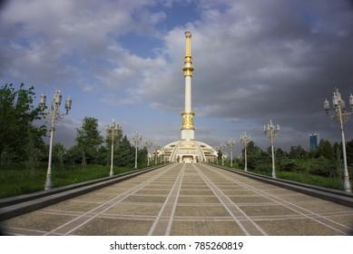 monument of Turkmenbashi in Ashgabat ,Turkmenistan, Central Asia
