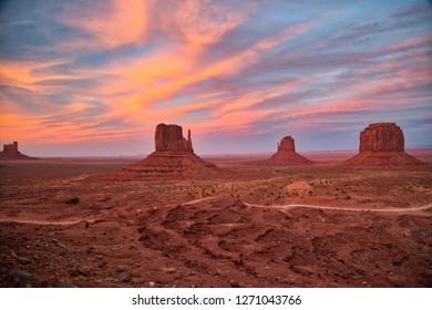 Monument Valley, Arizona and Utah.