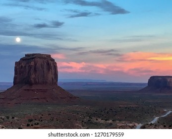 Monument Valley is an iconic landscape in the Southwest. It is located in Arizona and the United States. This was taken in October at sunset.