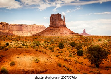 Monument Valley, mittens in the Navajo Tribal Park