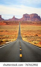 Monument Valley near the Utah and Arizona border, USA.