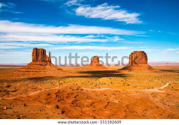 Valle del Monumento en la frontera entre Arizona y Utah en Estados Unidos