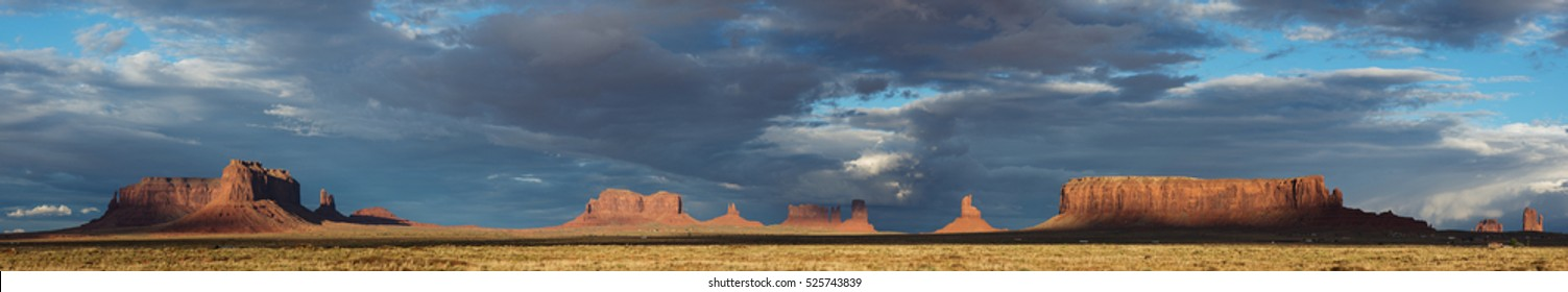 Monument Valley, panoramic image