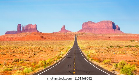 Monument vally in Arizona USA,  blue sky with nobody