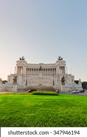 Monument of Victor Emmanuel II on Venice Square , Rome, Italy