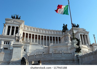 Monument of Vittorio Emanuele II in Rome, Italy