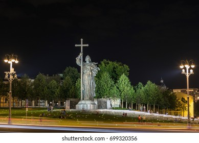 Monument to Vladimir the Great on Borovitskaya square. Moscow, Russia - August 19, 2017 - Shutterstock ID 699320356