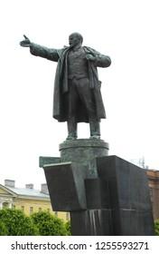 The monument to Vladimir Lenin in Lenin square, Saint-Petersburg, Russia