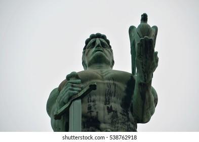 Monument to the winner at Kalemegdan in Belgrade, Serbia