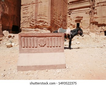 A monument in the World Heritage site of Petra (Jordan)