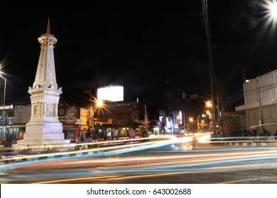 Monument Yogyakarta With Motion Light, Light Trail, Tugu Jogja | City of Indonesia