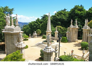 The monumental staircase of Lamego, Portugal