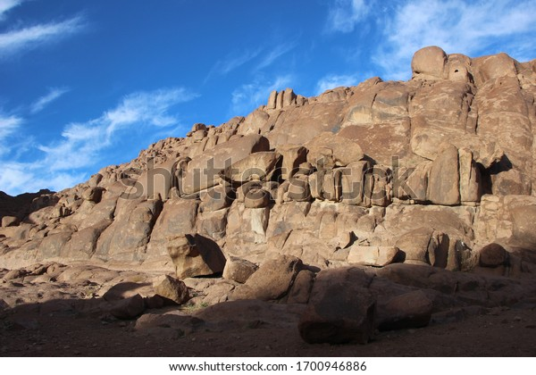 Monuments of mountains and rocks in Egypt