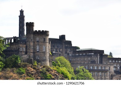 Monuments on Calton Hill in central Edinburg, Scotland, United Kingdom, UNESCO World Heritage Site
