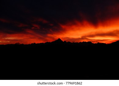 Monviso sunset orange