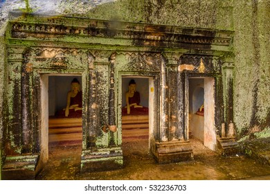 MONYVA, MYANMAR - AUG 28, 2016: Shwe Ba Taung, a Buddhist site near Monywa, Myanmar. One of the touristic attractions