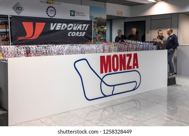 MONZA, ITALY - 18 NOVEMBER 2018: Prises ready for Vedovati corse on the famous Monza track.