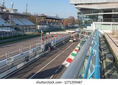 MONZA, ITALY - 18 NOVEMBER 2018: Vedovati corse on the famous Monza track.