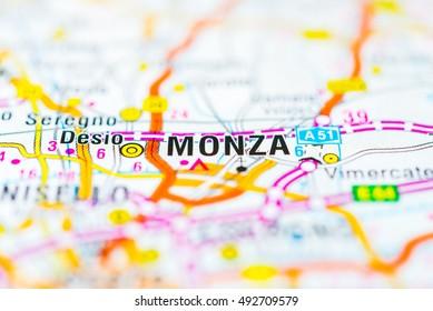 Monza Map Images Stock Photos Vectors Shutterstock