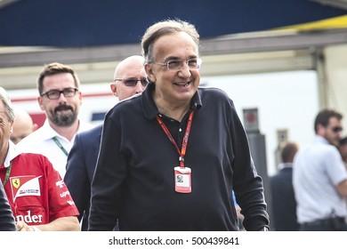 Monza, Italy, 3 September 2016. F1, grand prix of Italy. Sergio Marchionne, Ferrari president.