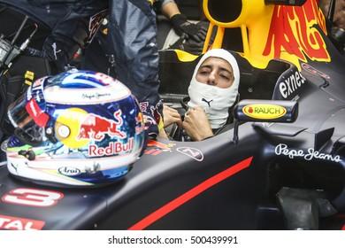 Monza, Italy, 3 September 2016. F1, grand prix of Italy. Portrait of Daniel Ricciardo, australian driver of Red Bull.