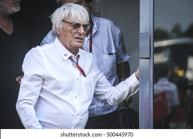 Monza, Italy. 3 September 2016. Grand prix of Formula1. Bernie Ecclestone, british manager of F1.