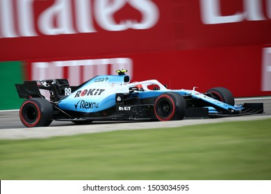 Monza, Italy. 6th September 2019. Formula 1 Gran Prix of Italy.    Robert Kubica of ROKiT Williams Racing during practice for the F1 Grand Prix of Italy