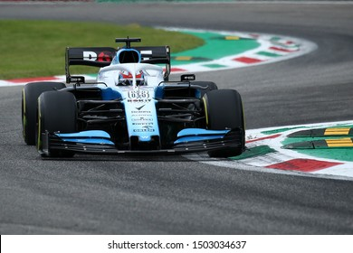 Monza, Italy. 6th September 2019. Formula 1 Gran Prix of Italy.   George Russell of ROKiT Williams Racing during practice for the F1 Grand Prix of Italy