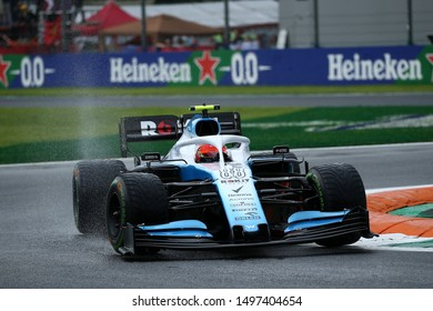 Monza, Italy. 6th September. Formula 1 Gran Prix of Italy.   Robert Kubica of ROKiT Williams Racing during practice for the F1 Grand Prix of Italy