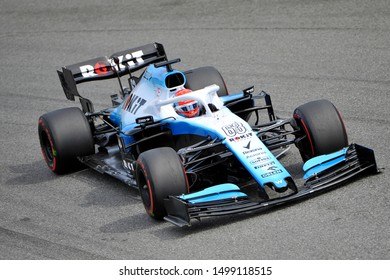 Monza, Italy. 7th September 2019. Formula 1 Grand Prix of Italy.George Russell of ROKiT Williams Racing during qualifying for the F1 Grand Prix of Italy